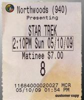 star trek ticket stub